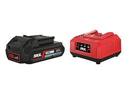 """SKIL 3110 AA Akumulators (""""20V Max"""" (18 V) 2,5 Ah """"Keep Cool"""" Li-Ion) un uzlādes ierīce"""